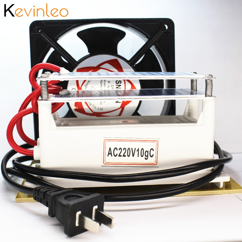 цена на Ozone Generator 220v 10g/h with Double Sheet Ceramic Plate Long Life Ozonizer Sterilizer Fan Excellent Heat Dissipation
