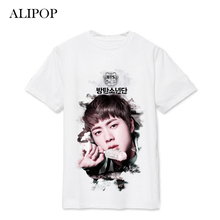 ALIPOP Kpop BTS Bangtan Boys WINGS SUGA V Album Live Print Loose Shirts Hip Hop Tshirt T Shirt Short Sleeve Tops T-shirt DX494