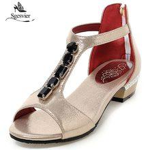 Sgesvier Hot sale 4 colors women sandals peep toe T