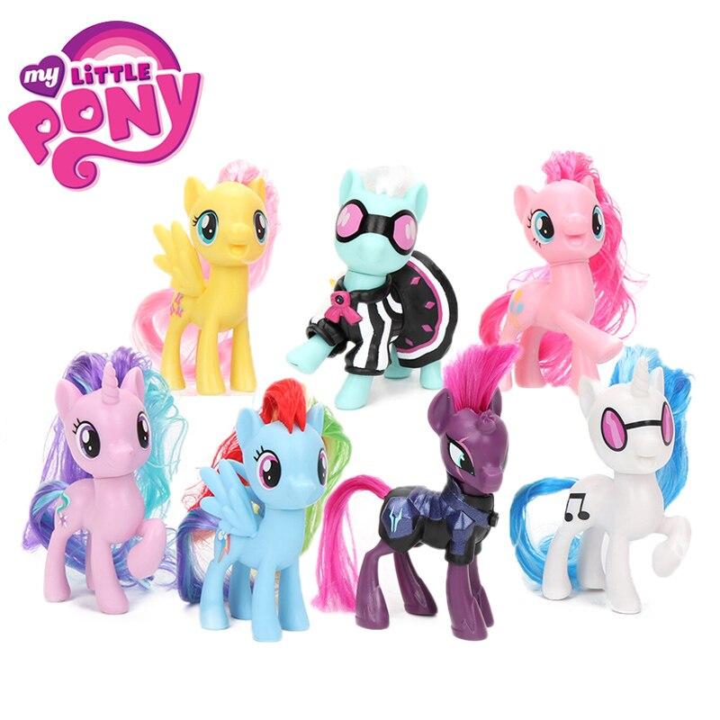 Model-Doll Action-Figure Collectible Lyra Little-Pony-Toys Rainbow-Dash Pinkie Pie Magic