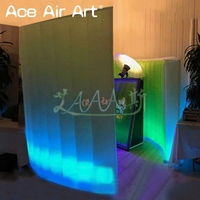 Spiral inflatable led photo booth backdrop,funny photo cabinet enclosure,event party kiosk tent on discount