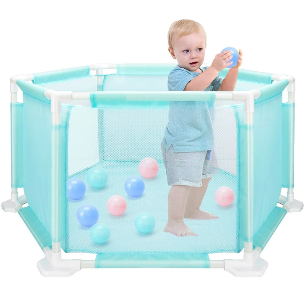 Portable Baby Safety Fence Playpen Kids Folding Security Ocean Balls Pool Barriers Safe Guard Toys for Baby Game Playing Gadgets 2018 new baby safety fence guard folding kids playpen game playing pit marine ball pool portable children s game tent baby fence