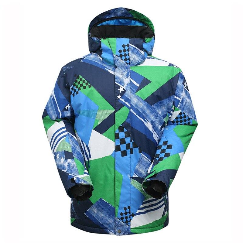 GSOU neige mâle Ski costume extérieur simple planche Double planche chaud respirant imperméable coupe-vent manteau de Ski taille S-XL