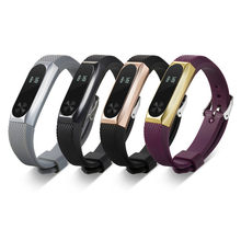 Factory Price Replacement Wristband Band Strap + Metal Case Cover For Xiaomi Mi Band 2 Bracelet Dec6 Drop Shipping(China)