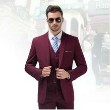 New Mens Wedding Suits Groom Tuxedos 3 Piece Formal Business Blazers