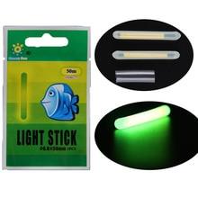10 bags Dia:6.0X50MM Fishing Float Glow Stick Fishing Lighting Stick Wand Green Glow Stick For Night Fishing Float Accessories