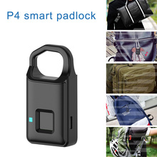 Smart Electronic Padlock Fingerprint Password Lock Travel Su