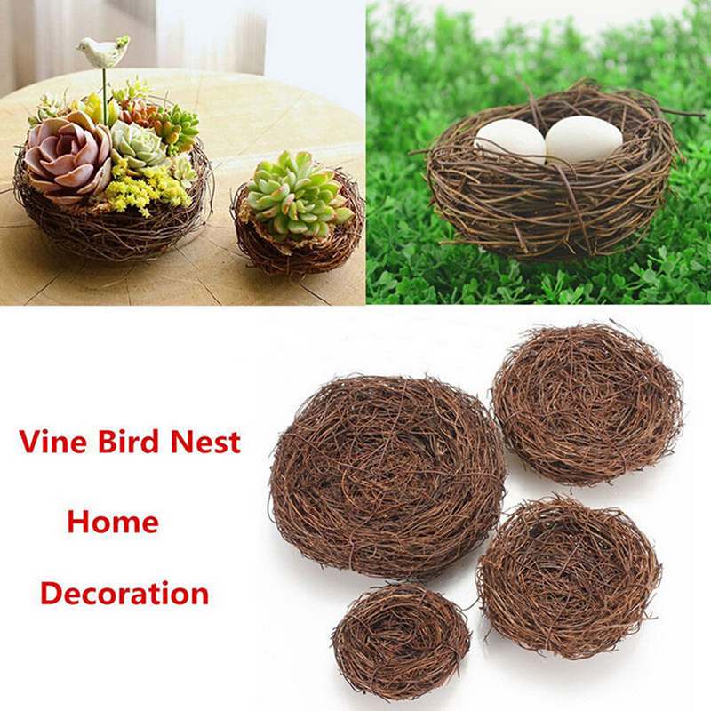 1x Bird Nest Safe Handmade Vine Differences Manual Bird Nest Home To Costume Small Jewelry Small Animals Decoration Accessories