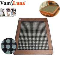 Jade Germanium Tourmaline Electric Infrared Heating Mattress Therapy Massage Pad Relaxation Pain Relief Treatment - Body Health