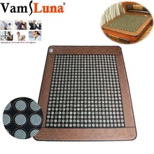 Jade Germanium Tourmaline Electric Infrared Heating Mattress Therapy Massage Pad Relaxation Pain Relief Treatment   Body Health