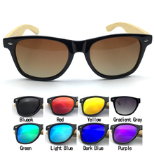 Free Shipping 9Colors Classical Eyewear PC Frame with Bamboo Temple Sunglasses and Polarized Lens B3001/c