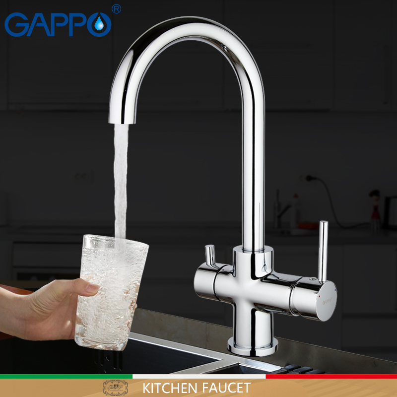 GAPPO Kitchen Faucet Chrome Water Taps Kitchen Sink Drinking Water Faucets Mixer Taps Deck Mounted Griferia