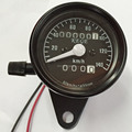 Free Shipping Universal Motorcycle Dual Odometer Speedometer Gauge KMH Meter Fits for Motorcycl Custom