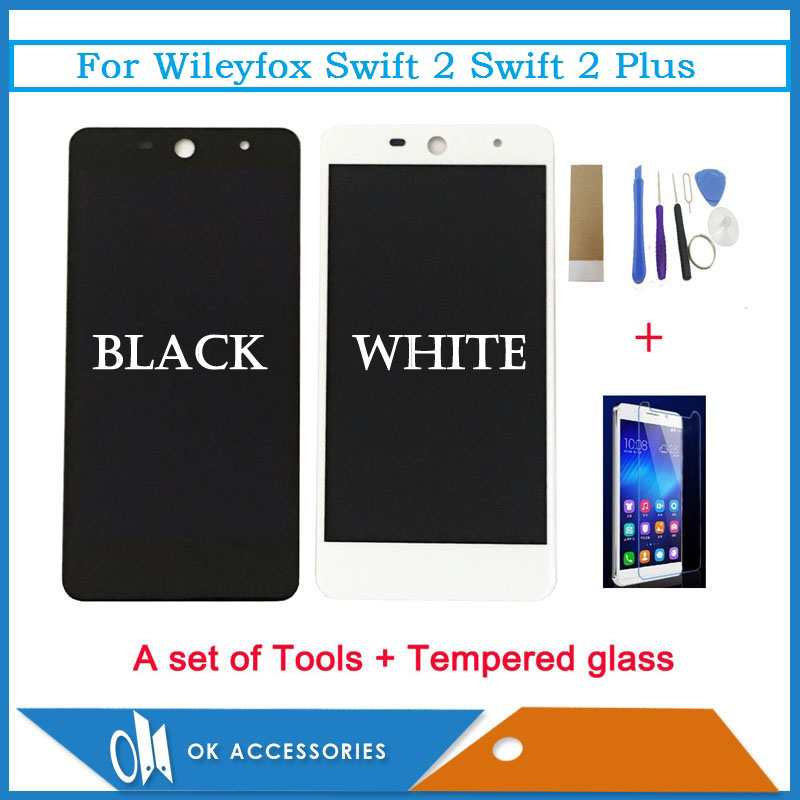 5.0 Inch Black White Color For Wileyfox Swift 2 Swift 2 Plus LCD Display Touch Screen Digitizer Assembly With Kit