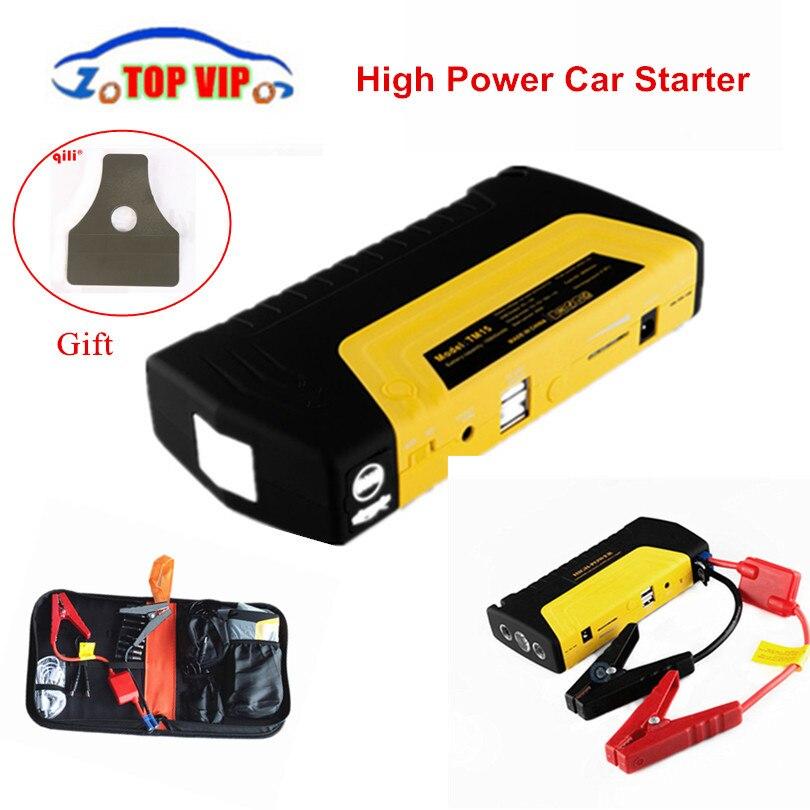 Bien noté!! Démarreur de voiture de secours mini batterie externe portable démarreur de voiture Multi fonction batterie chargeur de voiture Booster
