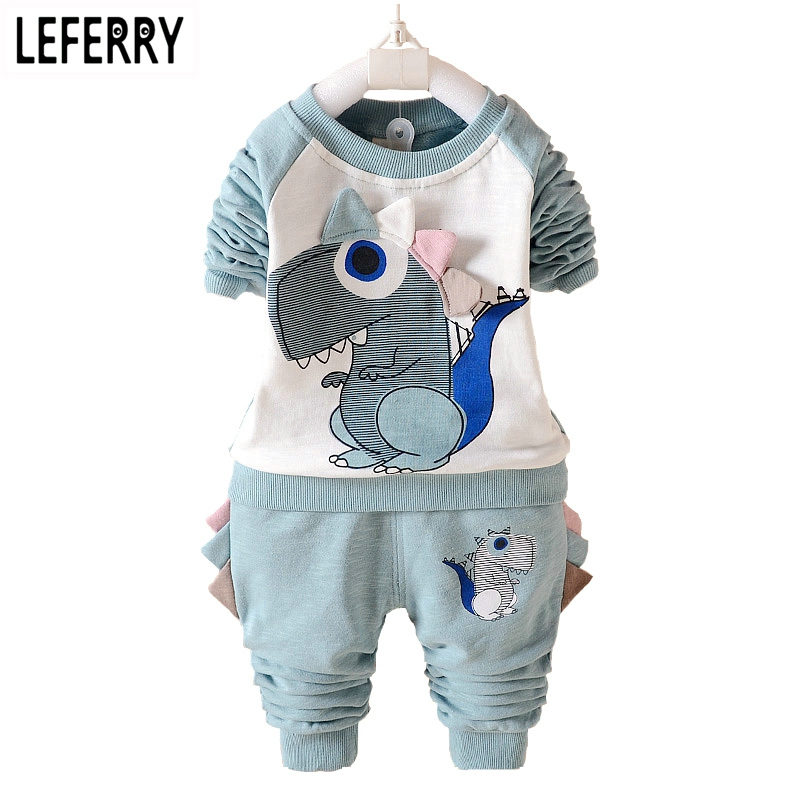 Dinosaur Kids Clothes Boys Girls Clothing Set Baby Toddler Boy Clothing Children Boutique Kids Clothing Outfits 2018 Autumn пуховики boutique children s clothing 1305 2015