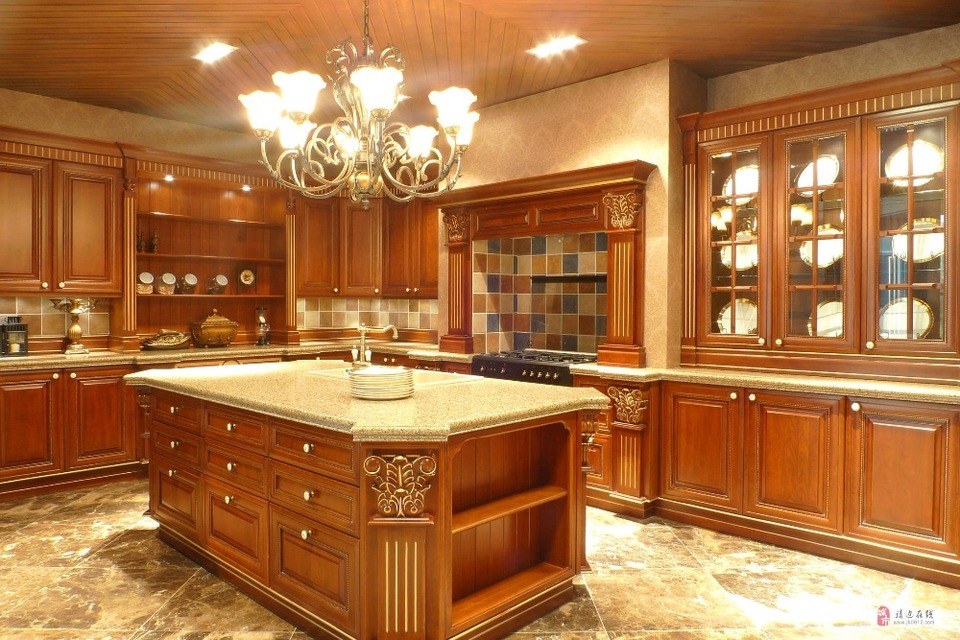 American Red Cherry Wood Antique Kitchen Cabinet Design 100 Customized Kitchen Cabinets Aliexpress