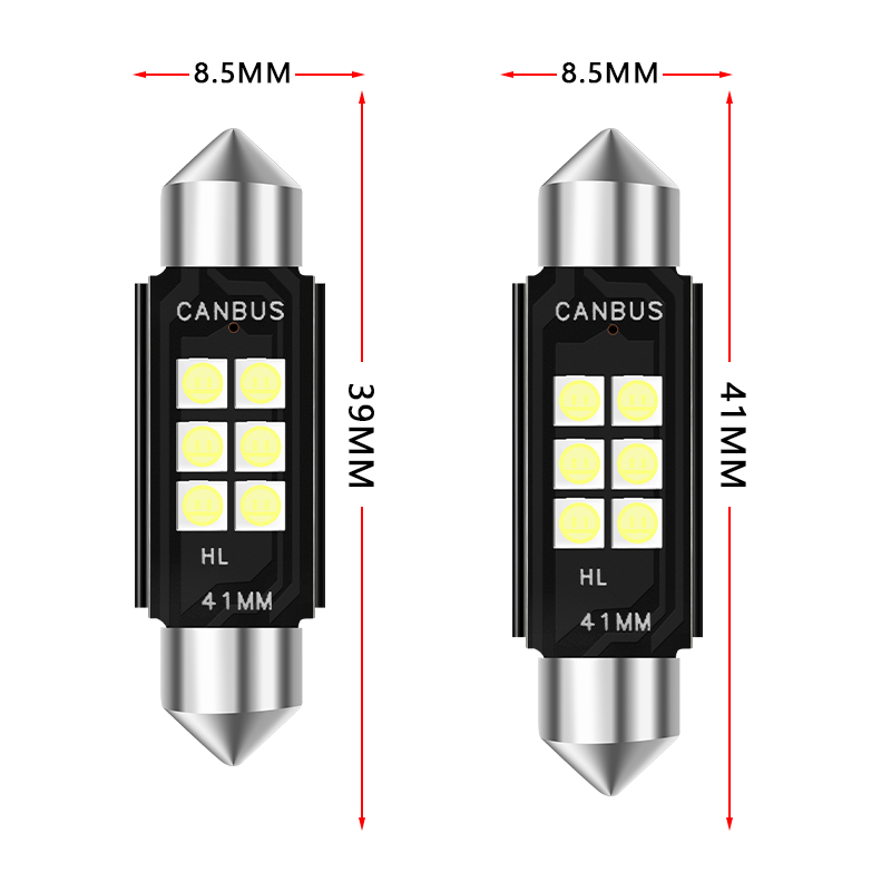 1pcs High Quality 31mm 36mm 39mm 41mm C5W C10W 3030 LED CANBUS Car Festoon Light Auto Interior Dome Lamp Reading Bulb Warm White in Signal Lamp from Automobiles Motorcycles