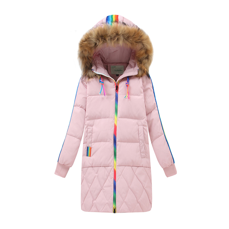 NEW 2017 Winter Warm Girls Down Coats Top 90% White Duck Down Jackets Fashion X-Long Outerwear Parkas For Girls Size 130-160 new 2017 fashion girls winter coats female child down jackets top quality outerwear medium long thick 90% duck down parkas