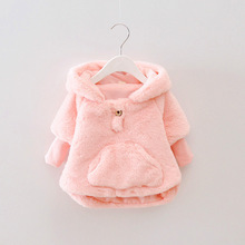 fake fur baby girls jacket autumn winter infant girls clothe