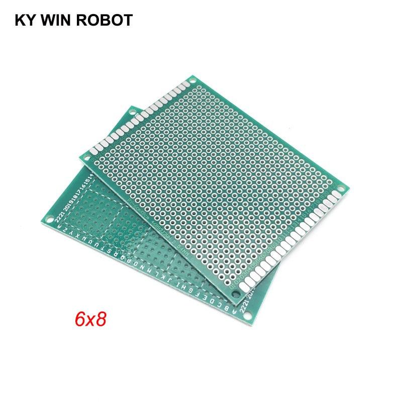 5pcs 6x8cm 60x80 Mm Single Side Prototype PCB Universal Printed Circuit Board Protoboard For Arduino