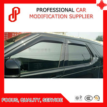 High Quality Injection molding trim vent shade rain sun wind deflector window visor for Discovery 5 window deflector for mitsubishi pajero 4 2007 rain deflector dirt protection car styling decoration accessories molding
