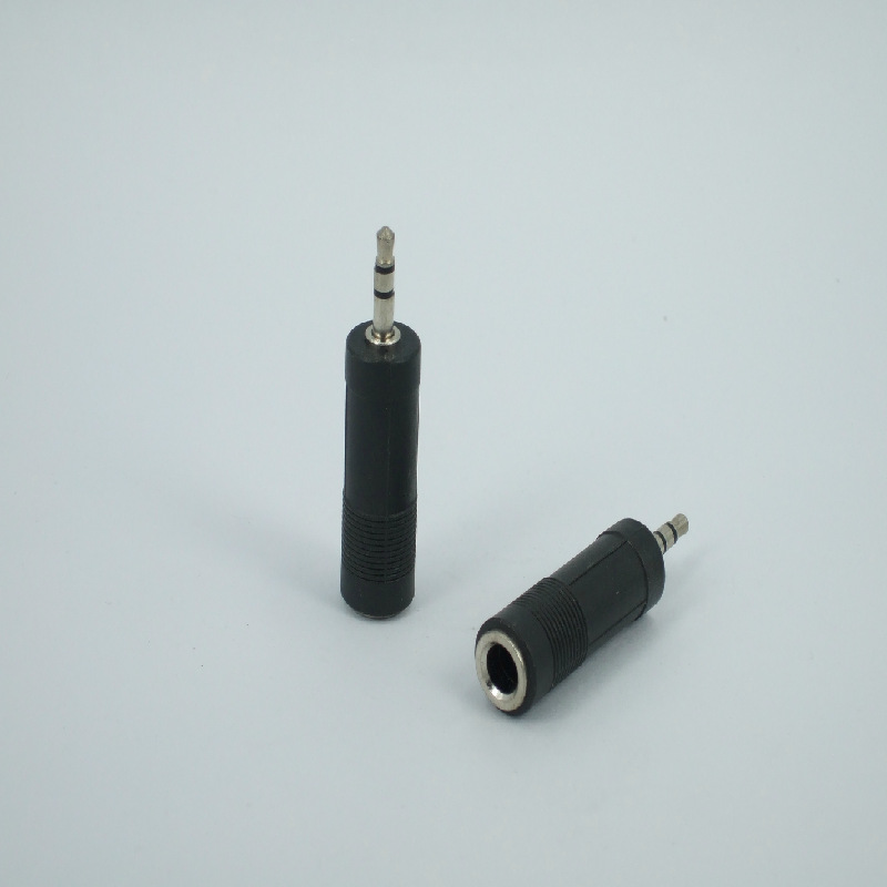 6.5 to 3.5 adapter audio speakers tieline head microphone line 3.5mm Male to 6.5 female