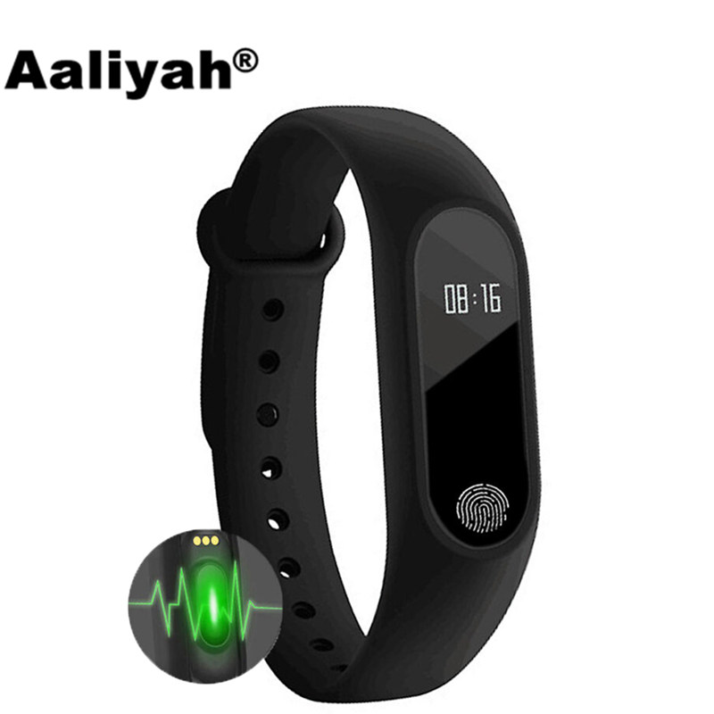 Aaliyah M2 Smart Wristband Watch Heart Rate Monitor Smart Bracelet Call Reminder Fitness Tracker For iOS Android PK Mi Band g5 heart rate monitor smart watch mtk2502 fitness tracker call sms reminder camera smartwatch for ios android pk gt08 u8 dz09