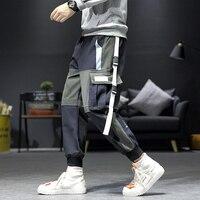 2019 Autumn Men Multi Pocket Harem Pants Trousers Men Streetwear Cargo Pant Hip Hop Casual Trousers Joggers Hombre ABZ484