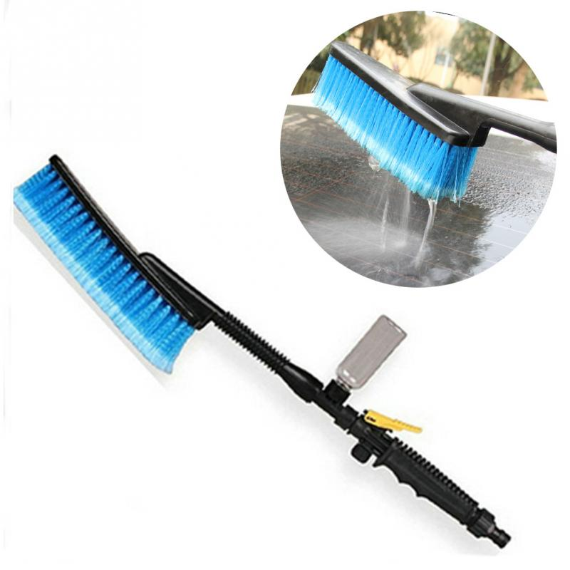 2017 Car Styling Cleaning Brush Auto Exterior Retractable Long Handle Water Flow Switch Foam