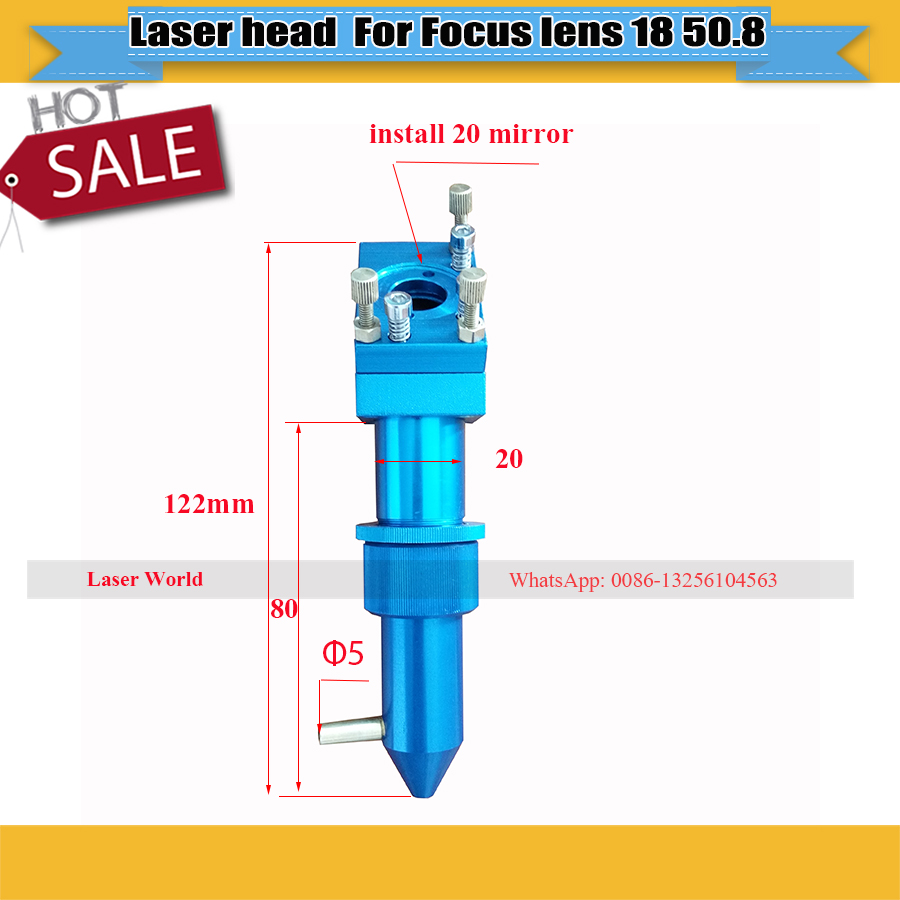 hight resolution of co2 laser head for focus lens dia 18 fl 50 8 for laser engraving machine and for desktop laser stamp machine free shipping in woodworking machinery parts
