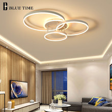 Cricle Rings Modern Led Chandelier For Living room Bedroom Dining room Luminaires Ceiling Chandelier Lighting Lampare deco techo l50cm l40cm new modern led chandelier for living room bedroom ding room lampara de techo indoor lighting luminaires ac110v 220v