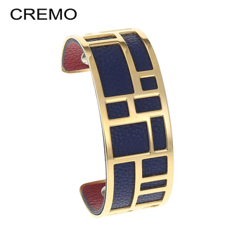 36a33cf8ba9a Pulseras de laberinto de Cremo brazalete de brazo eterno de oro brazaletes  de acero inoxidable Manchette