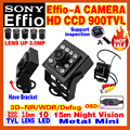 "Mini Metal HD 1/3""Sony CCD Effio-E 800/900TVL Analog Hd Cctv Camera Day/Night Vision Infrared 15m Security Surveillance Bracket"