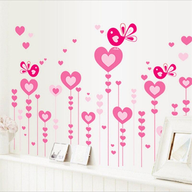 AY9116 الحب الفينيل ملصقات الحائط للأطفال غرف أطفال ديكور المنزل