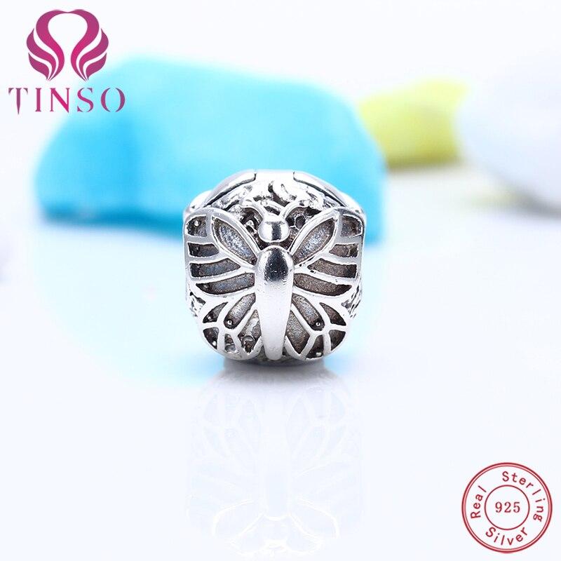 7cb61106ae3f 100% pulsera de plata 925 pulsera grabado LOGO icónico de plata del encanto  de la