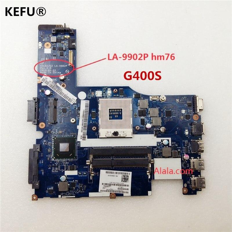 KEFU For Lenovo G400s Laptop System Motherboard Hm76 ILG1G2 LA 9902P suit for i3 i5 cpu