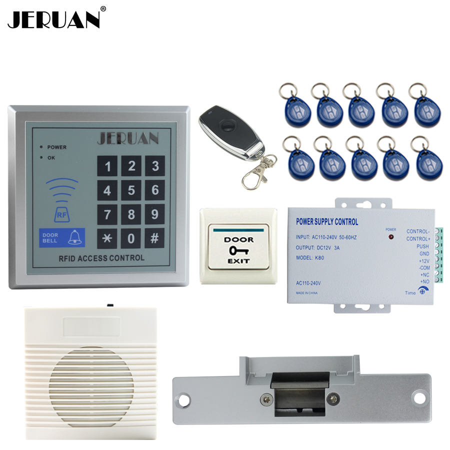 JERUAN new RFID Password Access Controller system kit+Speaker doorbell+Remote control+Exit Button+In stock Free shipping самсунг ля флер 7070 купить