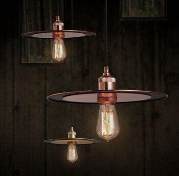 2018 New Suspension Luminaria Simple Restaurant Pendant Light Retro Industry Nostalgia Loft Bar Cafe Round Hanging Lamp Fixture