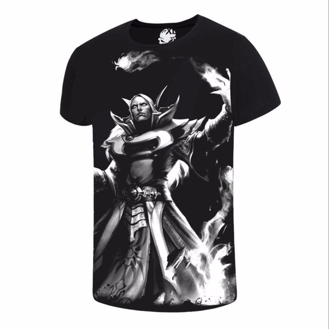 New Chinoiserie Cotton Dota 2 Men's T shirt Comfortable Dota2 Anime T-shirts Casual gamer Clothing O- fashion shirt