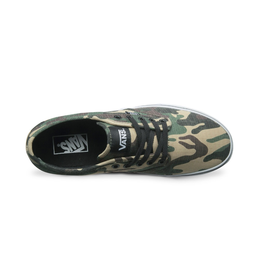 Original Vans Army Green Color Camouflage Low Top Mens Sepatu Sneakers Pria Rc121 Skateboarding Shoes Sport In From Sports Entertainment On