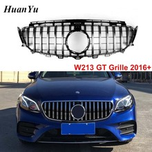 GT R Style Grille for Mercedes-benz W213/W238 E Class Sport Front Bumper Grill Replacement Racing Grilles 2016+ E200 E300 цена в Москве и Питере