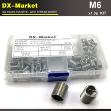 m6 *1.0P , 100pcs 1d 1.5d 2d 2.5d 3d  each 20pcs 02 stainless steel bolt thread inserts kit repair recoil insert