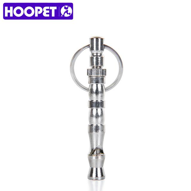 HOOPET Wholesale Pet Training Adjustable Ultrasonic Flute Dog Whistle Sound Keychain