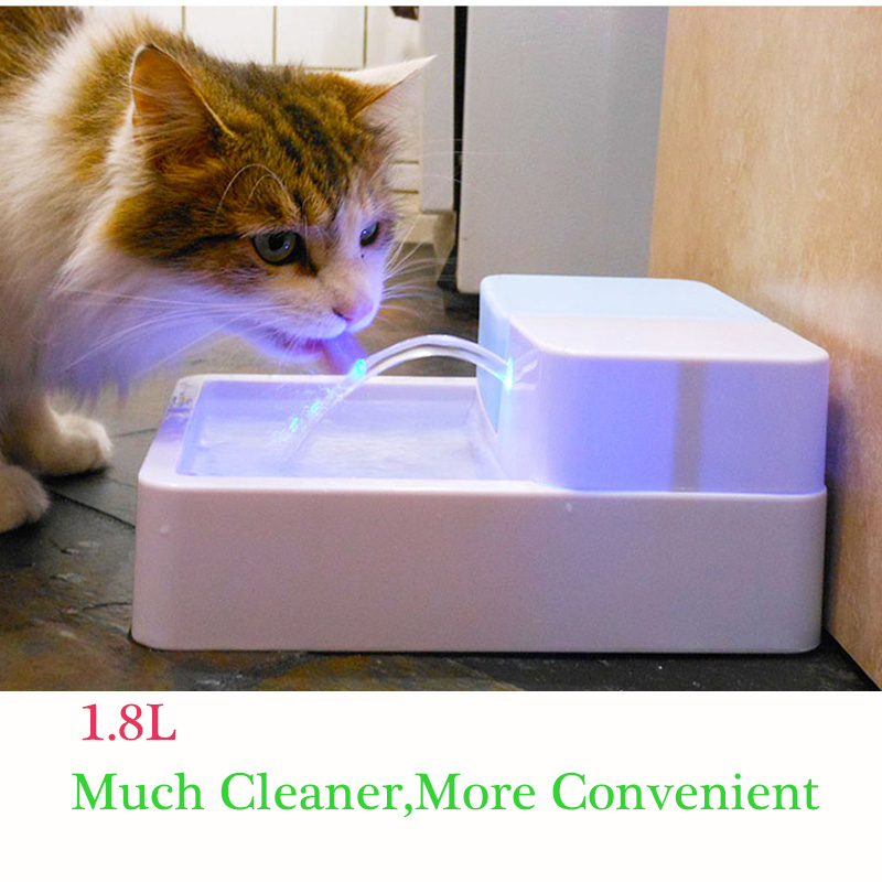 1.8L LED Automatic Pet Water Feeder Cat Dog Water Drink Pet Fountain Pet Bowl Drink Dish Filter Pet Feeder Cat Water Dispenser 5 5l automatic pet feeder with voice message recording and lcd screen large smart dogs cats food bowl dispenser pet products