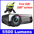 5500 lumens smart Android 4.4 lcd tv led projector full hd accessories 1920x1080 3d home theater projetor video proyector beamer