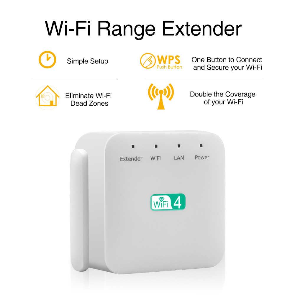 Amplificador repetidor WiFi 300Mbps extensor WiFi amplificador de señal WIFI amplificador de red repetidor extensor WIFI Ap Wps enrutador