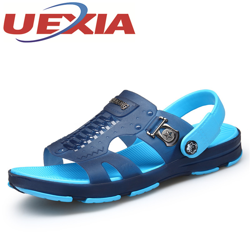 Plus Size 45 Men Casual Breathable Sandals Slippers Shoes Summer Outdoor Fashion Flat Beach Water Shoes For Men Sandalias Hombre