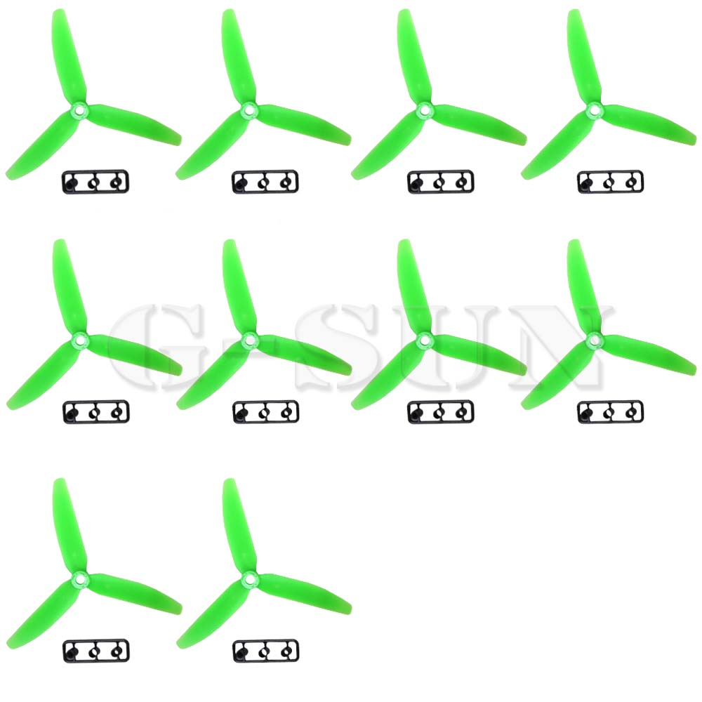 Three 3 Blade Propeller 5030 50*3.0 CW CCW Green for Quad Multicopter 10PCS=5 Pairs