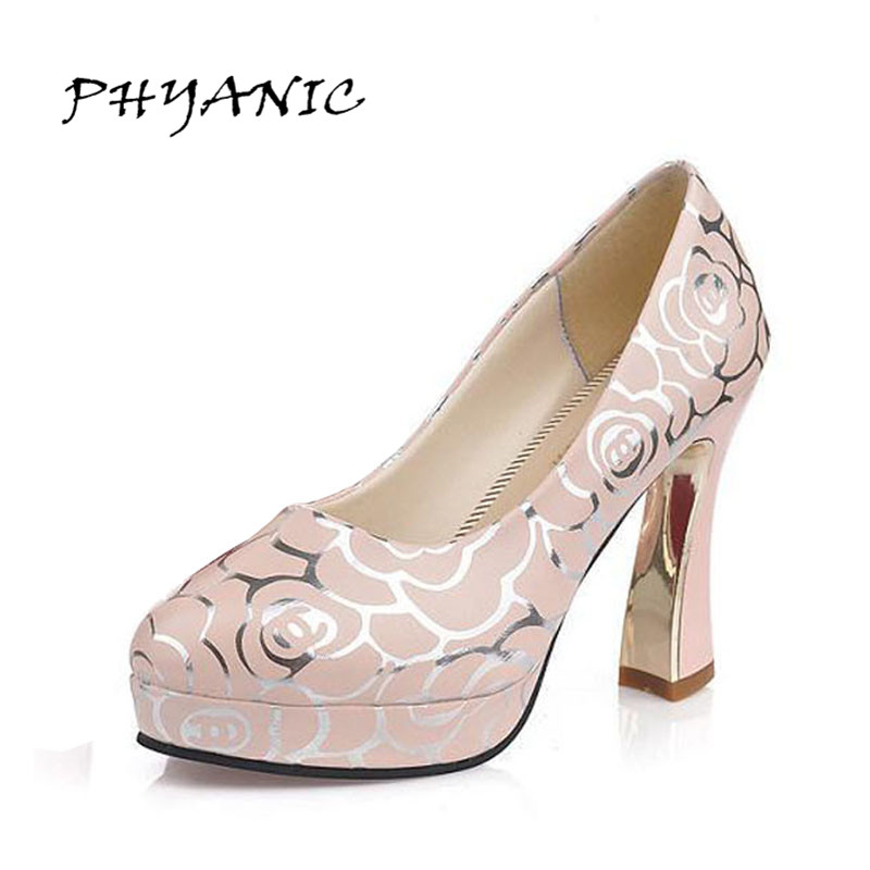 PHYANIC Hotsale Sexy Women High Heels Women Pumps Shoes 2017 New Design Less Platform Shoes Woman Chaussure Femme Party Shoes phyanic bling glitter high heels 2017 silver wedding shoes woman summer platform women sandals sexy casual pumps phy4901